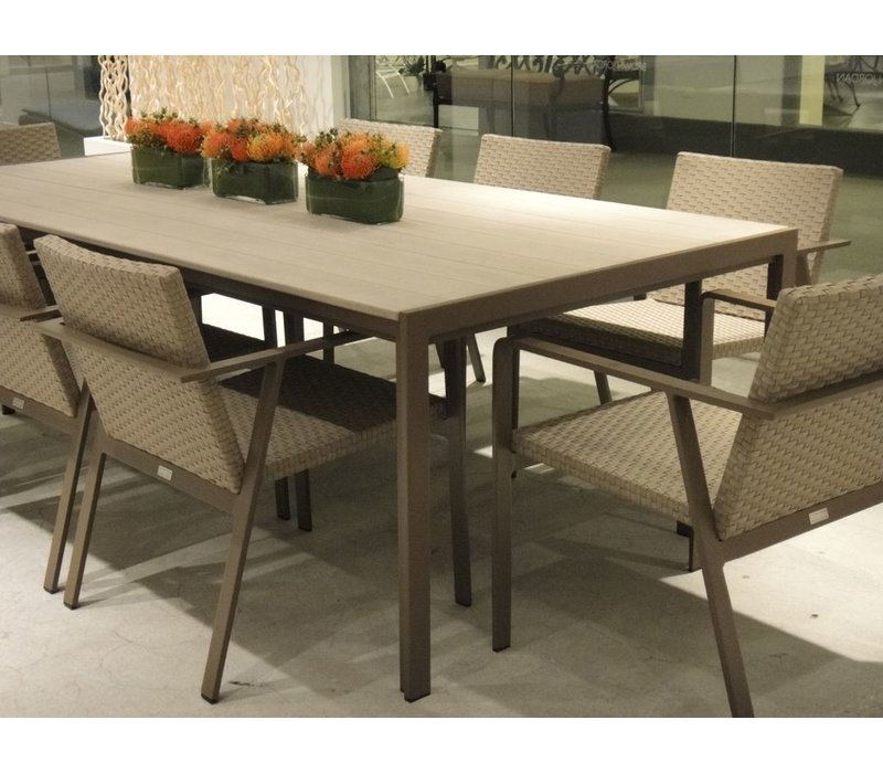ELEMENTS 45 x 98 DINING WITH MOCA RESINWOOD TOP / NO UMBRELLA HOLE