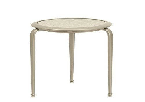 BROWN JORDAN FLIGHT ROUND OCCASIONAL TABLE WITH PYLON ALUMINUM TOP
