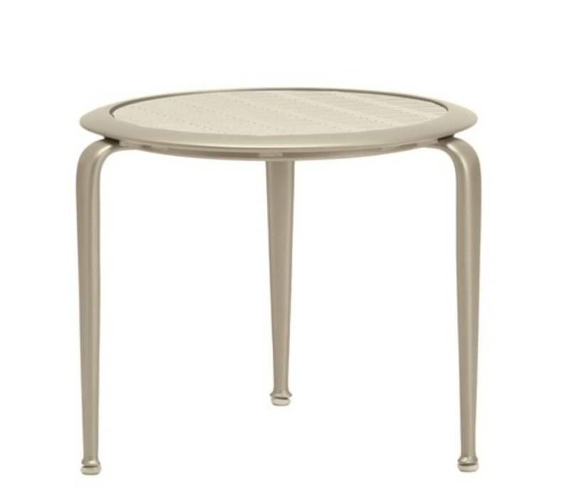 FLIGHT ROUND OCCASIONAL TABLE WITH PYLON ALUMINUM TOP