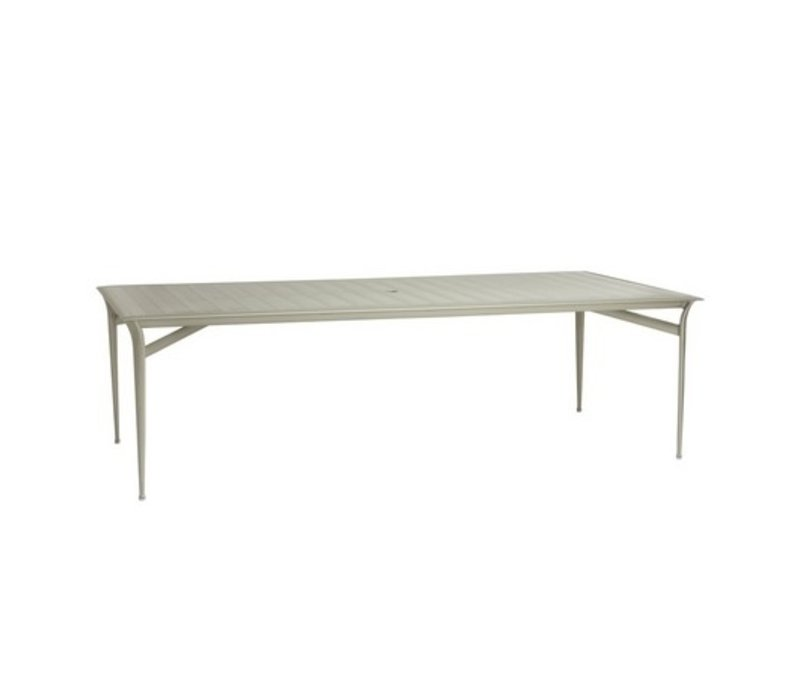 FLIGHT 45 x 79 RECTANGULAR DINING TABLE WITH SOLID ALUMINUM TOP