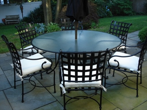 Round Glass Dining Table 48 Inches: BROWN JORDAN FLORENTINE 48 INCH ROUND DINING TABLE WITH