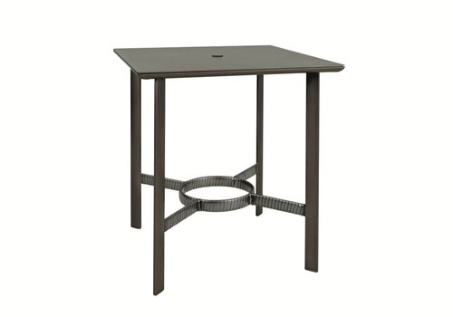 BROWN JORDAN PARKWAY 36 SQUARE BAR TABLE WITH SOLID ALUMINUM TOP