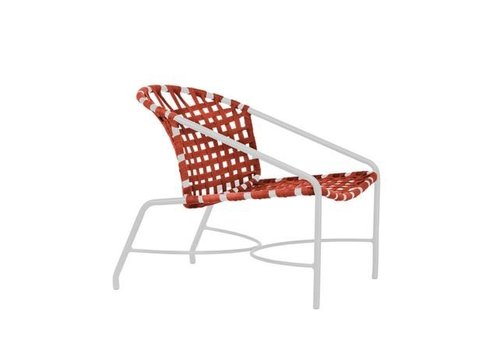 BROWN JORDAN KANTAN ALUMINUM LOUNGE CHAIR WITH SUN CLOTH STRAP