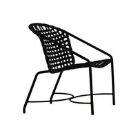 KANTAN ALUMINUM DINING ARM CHAIR WITH VINYL STRAP
