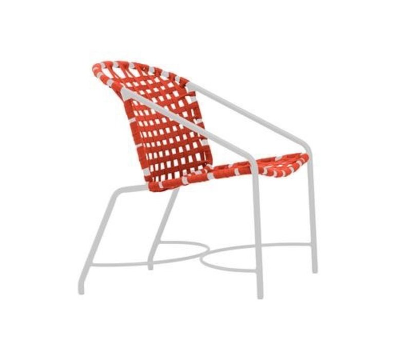 KANTAN ALUMINUM DINING ARM CHAIR WITH SUNCLOTH STRAP