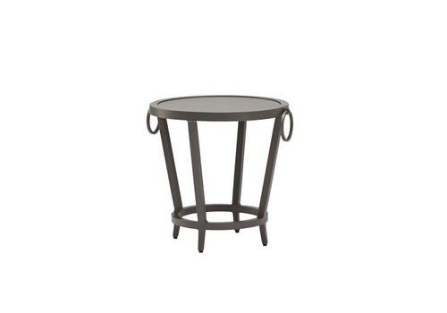 BROWN JORDAN LUNA 20 ROUND OCCASIONAL TABLE WITH SOLID ALUMINUM TOP