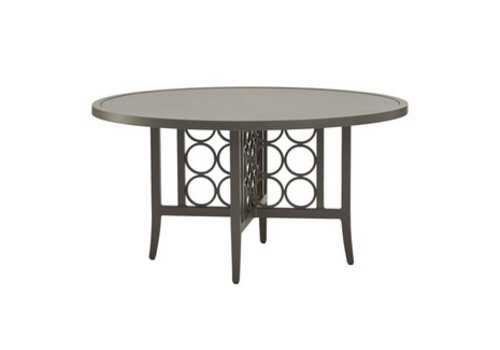BROWN JORDAN LUNA 54 ROUND DINING TABLE WITH SOLID ALUMINUM TOP (no umbrella hole)