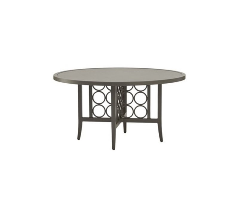 LUNA 54 ROUND DINING TABLE WITH SOLID ALUMINUM TOP (no umbrella hole)