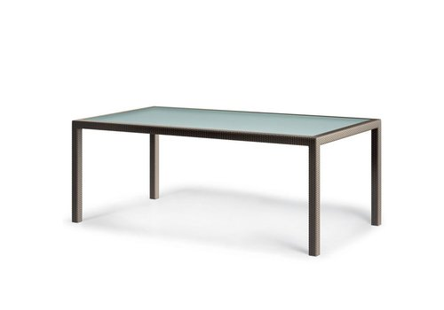 DEDON BARCELONA 39 x 79 RECTANGULAR DINING TABLE IN BRONZE