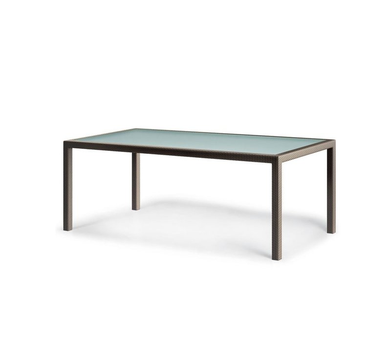 BARCELONA 39 x 79 RECTANGULAR DINING TABLE IN BRONZE