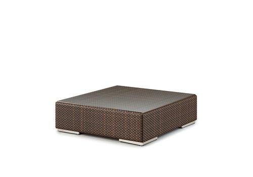 DEDON LOUNGE 43 SQ COFFEE TABLE/FOOTSTOOL IN JAVA