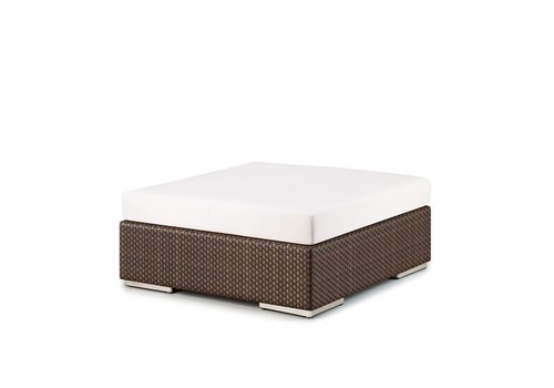 DEDON LOUNGE 43 INCH SQUARE FOOTSTOOL / COFFEE TABLE IN JAVA