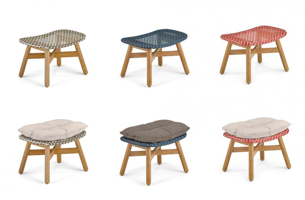 Dedon Mbrace Footstool In Pepper Kolo Collection