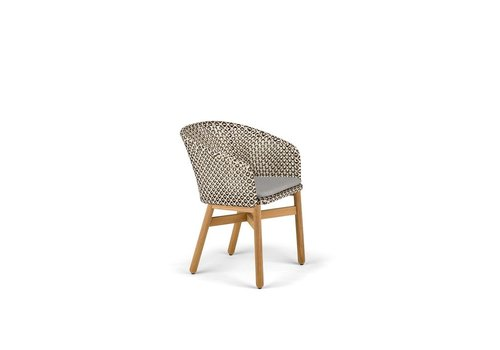 DEDON MBRACE DINING ARMCHAIR IN PEPPER