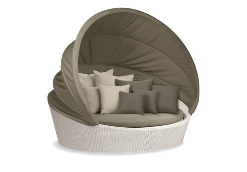 DEDON ORBIT XXL IN CHALK WITH TAUPE CANOPY