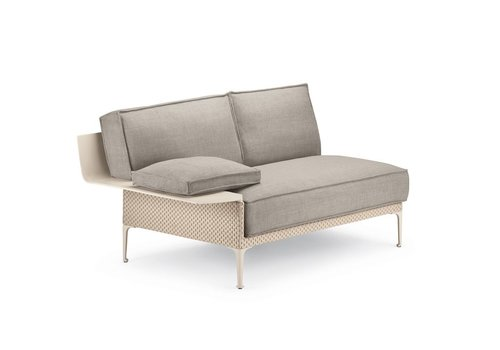 DEDON RAYN SECTIONAL RIGHT MODULE WITH ARMREST IN SALINA COLOR WEAVE