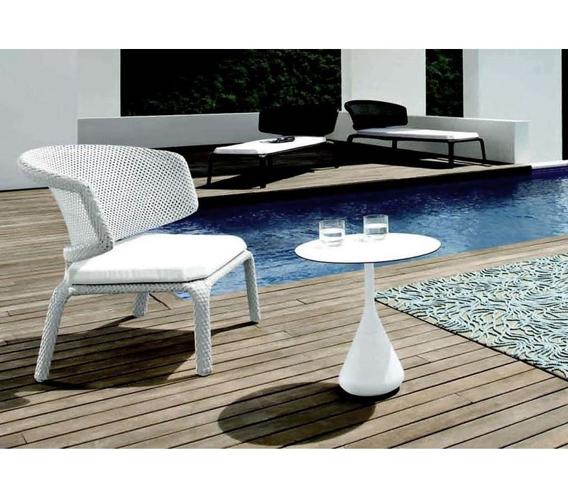 SATELLITE 16 ROUND SIDE TABLE IN COLOR VULCANO