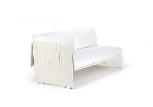 DEDON SLIM LINE SOFA RIGHT IN CHALK