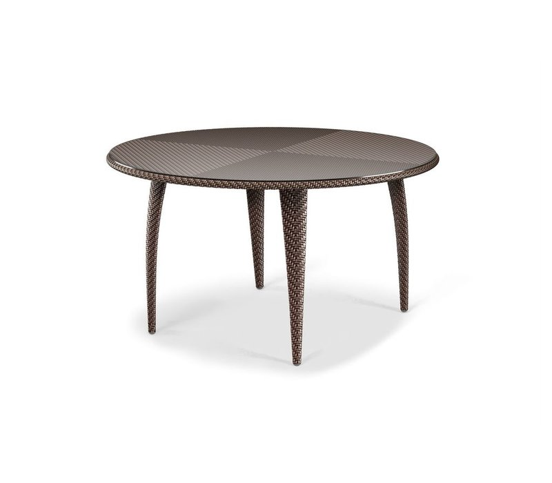 TANGO 51 ROUND DINING TABLE IN BRONZE WITH GLASS TOP