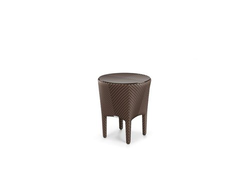 DEDON TANGO 18 INCH ROUND SIDE TABLE IN BRONZE