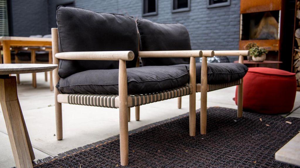 Dedon Tibbo Lounge Chair With Vulcano Matte Weave Kolo