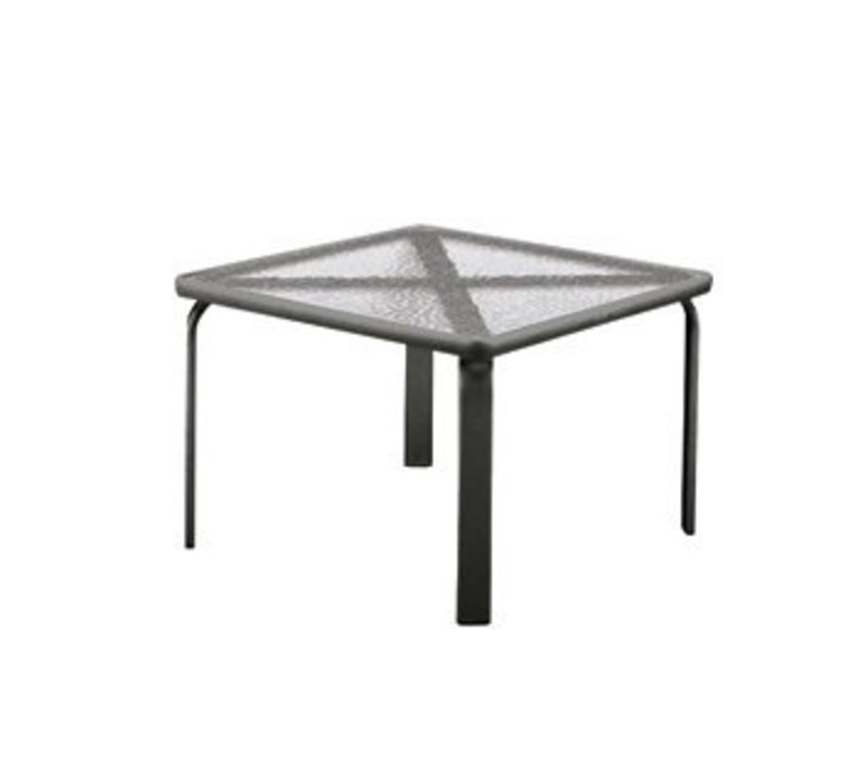 QUANTUM 22 INCH SQUARE SIDE TABLE WITH GLASS TOP
