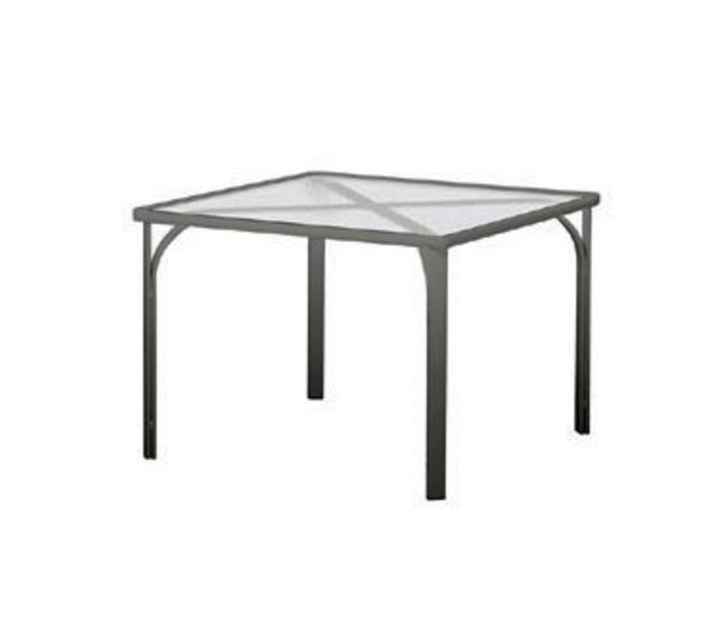 QUANTUM 32 INCH SQUARE TABLE WITH GLASS TOP NO UMBRELLA HOLE