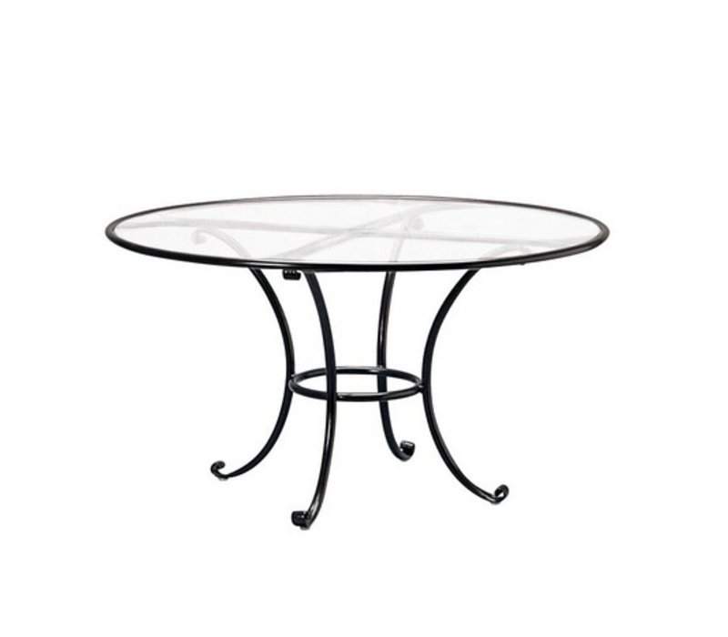 BROWN JORDAN ROMA INCH ROUND DINING TABLE WITH CLEAR GLASS TOP - 48 inch oval dining table