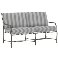 ROMA SUNCLOTH STRAP LOVESEAT WITH CUSHIONS IN GRADE A FABRIC