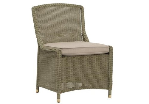 BROWN JORDAN SOUTHAMPTON SIDE CHAIR IN SAGE WITH GRADE A FABRIC