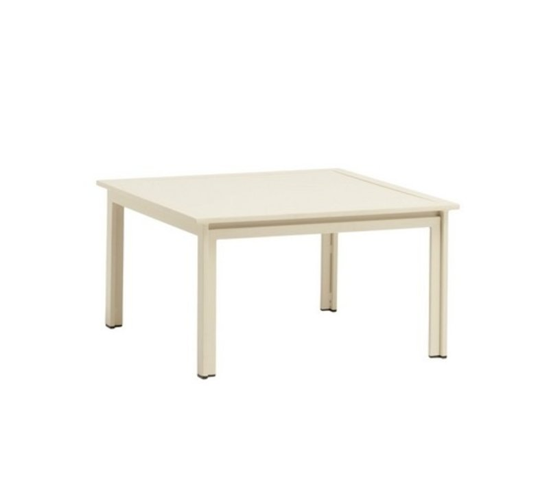 SWIM 27 X 27 OCCASIONAL TABLE WITH SOLID ALUMINUM TOP