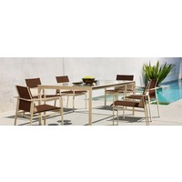 SWIM 45 X 79 DINING TABLE WITH SOLID ALUMINUM TOP