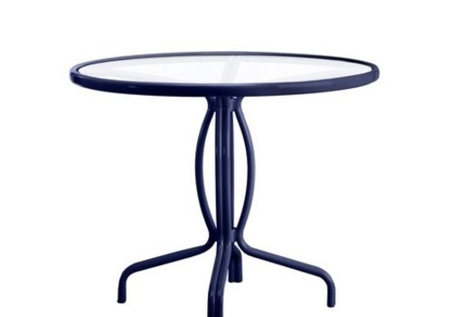BROWN JORDAN TAMIAMI 36 INCH BISTRO TABLE WITH GLASS TOP