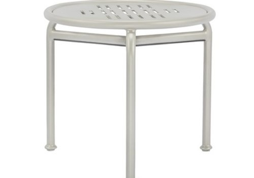 BROWN JORDAN VERGE 20 INCH ROUND OCCASIONAL TABLE WITH PYLON ALUMINUM TOP