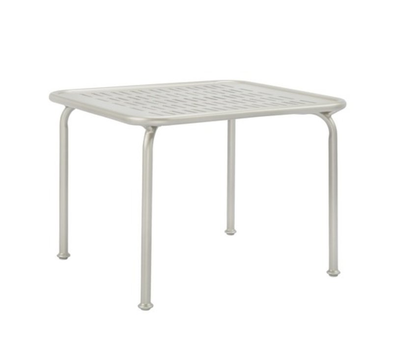VERGE 26 SQUARE END TABLE WITH PYLON ALUMINUM TOP