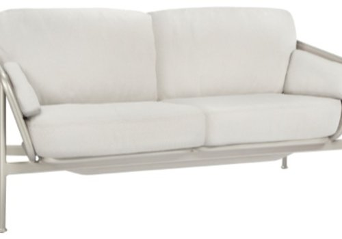BROWN JORDAN VERGE LOVESEAT WITH CUSHIONS IN GRADE A FABRIC
