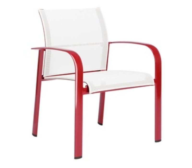 SIROCCO STACKING ARM CHAIR WITH GRADE A SLING