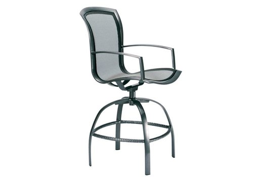 BROWN JORDAN WAVE SWIVEL BAR CHAIR WITH PARABOLIC SLING