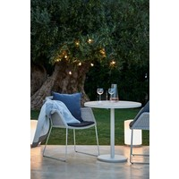 BREEZE ARMCHAIR IN WHITE GREY, CANE-LINE FIBRE