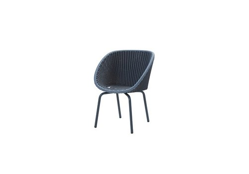 CANE-LINE PEACOCK DINING CHAIR IN MIDNIGHT AND BLUE CANE-LINE FIBRE