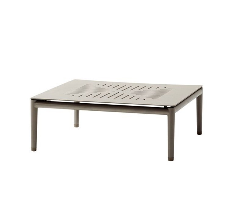 CONIC COFFEE TABLE 30x30 IN TAUPE ALUMINUM