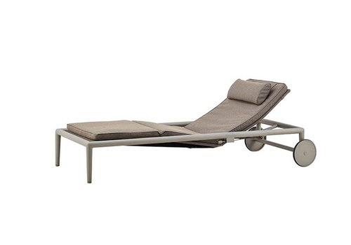 CANE-LINE CONIC SUNBED WITH CUSHION IN BROWN, CANE-LINE SOFTTOUCH