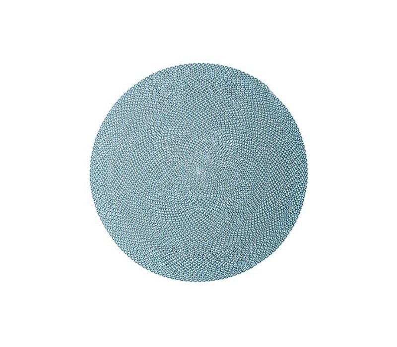 DEFINED 79 INCH OUTDOOR RUG IN TURQUOISE, BEIGE AND GREY