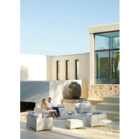 DIAMOND 3-SEATER SOFA IN WHITE TEX WITH CUSHIONS IN WHITE TEX