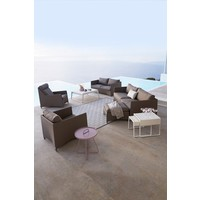 I-AM 10x10 OUTDOOR RUG IN BROWN AND WHITE CANE-LINE TEX