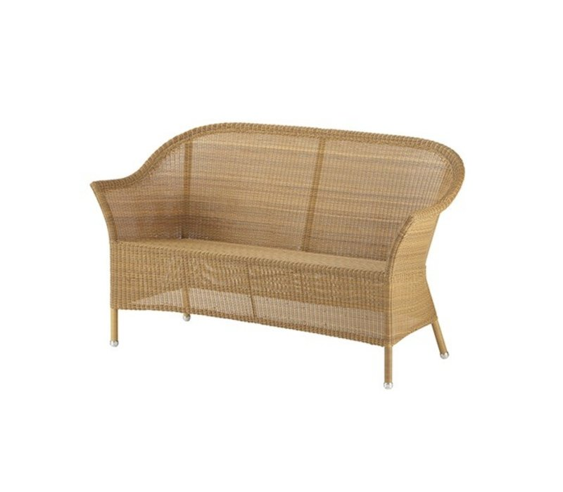 LANSING 2 SEATER SOFA IN NATURAL, CANE-LINE FIBRE