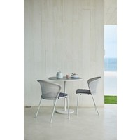 LEAN DINING CHAIR IN WHITE-GREY CANE-LINE WEAVE