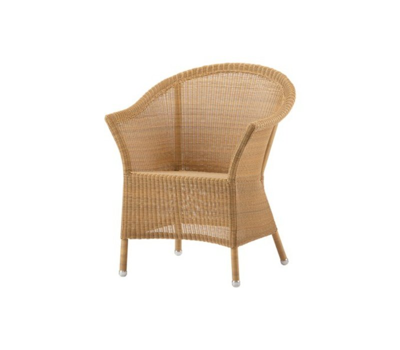 LANSING ARM CHAIR IN NATURAL, CANE-LINE FIBRE