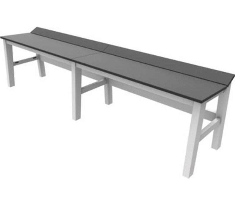 SEASIDE CASUAL SYM 72 INCH DINING BENCH WITH WHITE FRAME AND ...