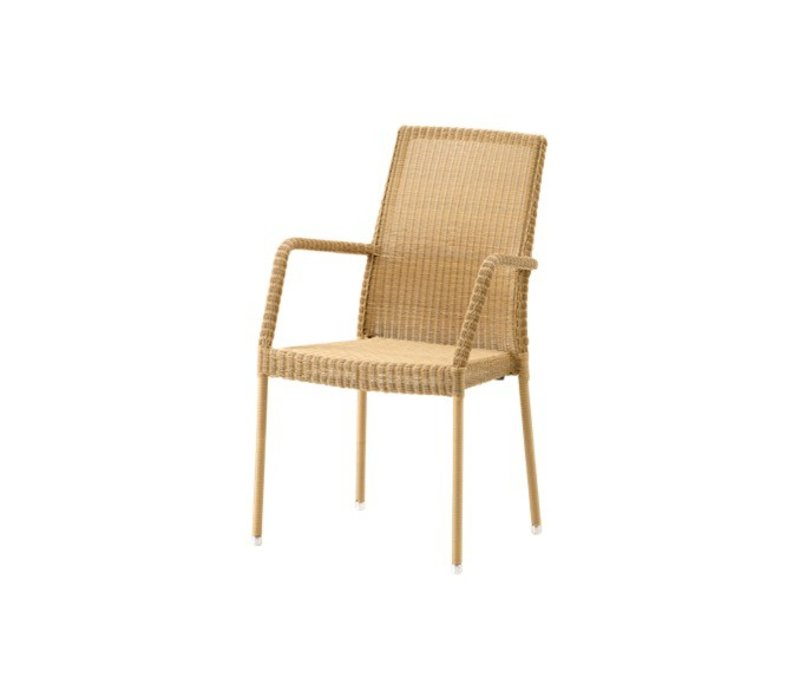NEWMAN ARM CHAIR IN NATURAL, CANE-LINE FIBRE